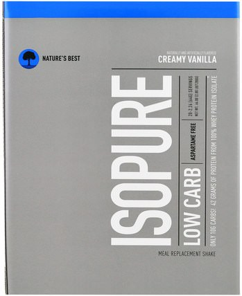 IsoPure, IsoPure, Low Carb Protein Powder, Creamy Vanilla, 20 Packets, 2.24 oz (64 g) Each by Natures Best, 補充劑,乳清蛋白 HK 香港