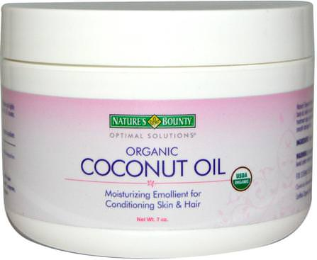 Organic Coconut Oil, 7 oz by Natures Bounty, 食物,酮友好,椰子油皮 HK 香港