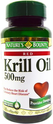 Red Krill Oil, 500 mg, 30 Softgels by Natures Bounty, 補充劑,efa omega 3 6 9(epa dha),磷蝦油 HK 香港