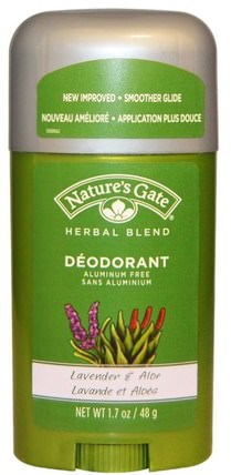 Deodorant, Herbal Blend, Lavender & Aloe, 1.7 oz (48 g) by Natures Gate, 洗澡,美容,除臭劑 HK 香港
