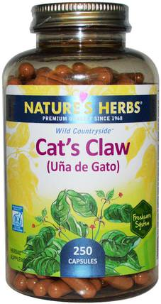 Cats Claw (Ua de Gato), 250 Capsules by Natures Herbs, 草藥,貓爪(ua de gato) HK 香港