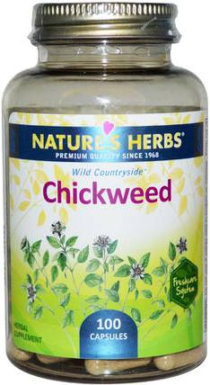 Natures Herbs, Chickweed, 100 Capsules 草藥,繁縷