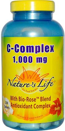 C-Complex, 1.000 mg, 250 Tablets by Natures Life, 維生素,維生素C複合物 HK 香港