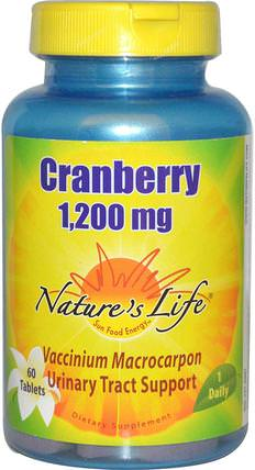 Cranberry, 1.200 mg, 60 Tablets by Natures Life, 草藥,酸果蔓汁提取物 HK 香港