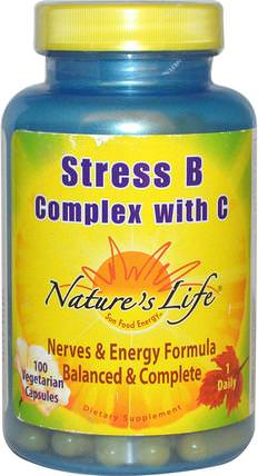Stress B Complex with C, 100 Veggie Caps by Natures Life, 維生素,維生素b複合物,b抗應激 HK 香港