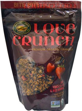 Love Crunch, Premium Organic Granola, Dark Chocolate & Red Berries, 11.5 oz (325 g) by Natures Path, 食物,食物,穀物 HK 香港