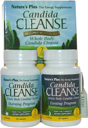Candida Cleanse, 7 Day Program, 2 Bottles, 28 Capsules Each by Natures Plus, 健康,排毒,念珠菌 HK 香港