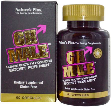 GH Male, Human Growth Hormone for Men, 60 Capsules by Natures Plus, 補充劑,合成代謝補品,健康,男性 HK 香港