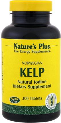 Norwegian Kelp, 300 Tablets by Natures Plus, 補品,藻類各種,海帶 HK 香港