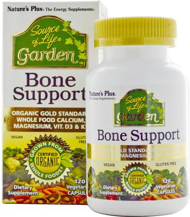 Source of Life, Garden, Bone Support, 120 Veggie Caps by Natures Plus, 健康,骨骼,骨質疏鬆症 HK 香港
