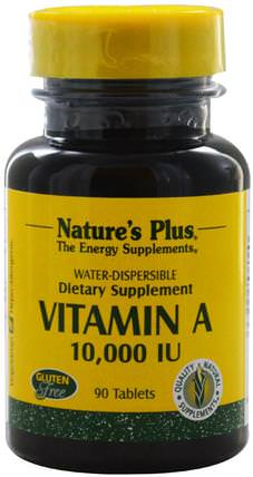 Vitamin A, 10.000 IU, 90 Tablets by Natures Plus, 維生素,維生素a,維生素a和d HK 香港