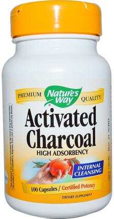 Activated Charcoal, 100 Capsules by Natures Way, 補品,礦物質,活性炭 HK 香港