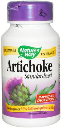 Artichoke, Standardized, 60 Capsules by Natures Way, 健康,膽固醇支持,補充劑 HK 香港