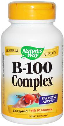 B-100 Complex, With B2 Coenzyme, 100 Capsules by Natures Way, 健康 HK 香港