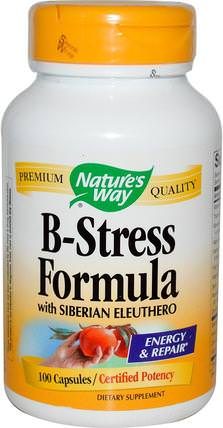 B-Stress Formula with Siberian Eleuthero, 100 Capsules by Natures Way, 補充劑,adaptogen HK 香港