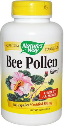 Bee Pollen Blend, 580 mg, 180 Capsules by Natures Way, 補充劑,蜂產品,蜂花粉 HK 香港