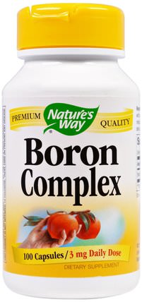 Boron Complex, 3 mg, 100 Capsules by Natures Way, 健康 HK 香港