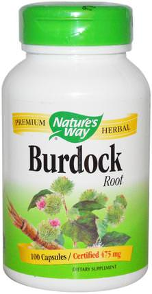 Burdock Root, 475 mg, 100 Capsules by Natures Way, 補品,草藥 HK 香港