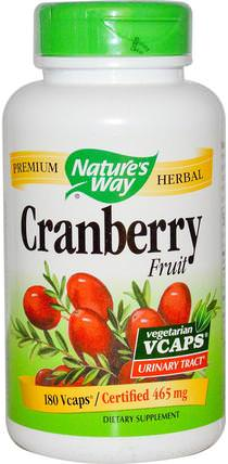 Cranberry Fruit, 465 mg, 180 Veggie Caps by Natures Way, 補品,草藥,蔓越莓 HK 香港