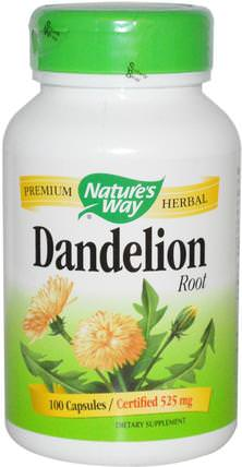 Dandelion Root, 525 mg, 100 Capsules by Natures Way, 草藥,蒲公英根 HK 香港