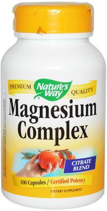 Magnesium Complex, 100 Capsules by Natures Way, 補品,礦物質,鈣 HK 香港