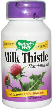 Milk Thistle, Standardized, 60 Capsules by Natures Way, 健康,排毒,奶薊(水飛薊素) HK 香港