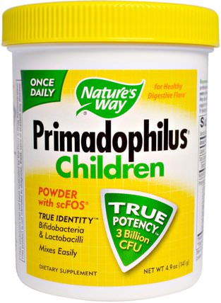 Primadophilus, Children, 4.9 oz (141 g) by Natures Way, 補充劑,益生菌,兒童益生菌 HK 香港