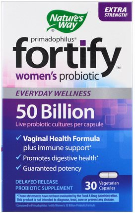 Primadophilus, Fortify, Womens Probiotic, Extra Strength, 30 Veggie Capsules by Natures Way, 補品,健康,女性 HK 香港