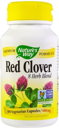 Red Clover, 460 mg, 100 Veggie Caps by Natures Way, 草藥,紅三葉草 HK 香港