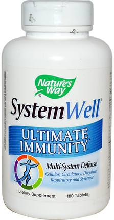 System Well, Ultimate Immunity, 180 Tablets by Natures Way, 健康,感冒和病毒,免疫系統 HK 香港