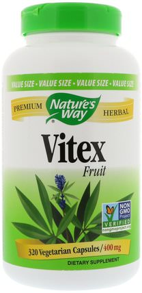 Vitex Fruit, 400 mg, 320 Vegetarian Capsules by Natures Way, 健康,女性,純潔的漿果 HK 香港