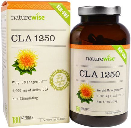 CLA-1250, 180 Softgels by NatureWise, 減肥,飲食,cla(共軛亞油酸) HK 香港