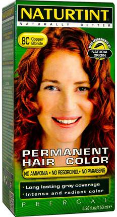 Naturtint, Permanent Hair Color, 8C Copper Blonde, 5.28 fl oz (150 ml) 健康