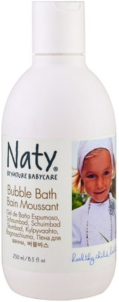 Bubble Bath, 8.5 fl oz (250 ml) by Naty, 洗澡,美容,泡泡浴 HK 香港