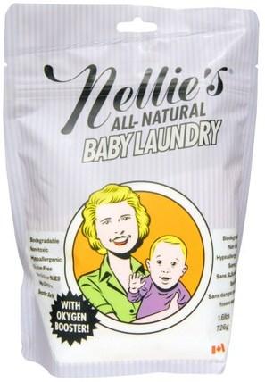 Baby Laundry, 1.6 lbs (726 g) by Nellies All-Natural, 兒童健康,嬰兒洗衣粉 HK 香港