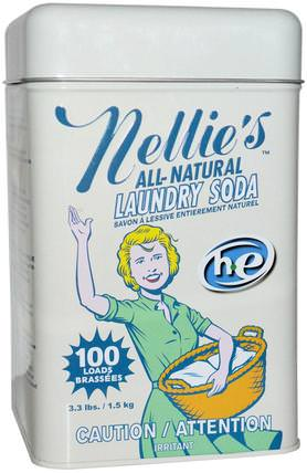 Laundry Soda, 100 Loads, 3.3 lbs (1.5 kg) by Nellies All-Natural, 家裡,洗衣粉 HK 香港