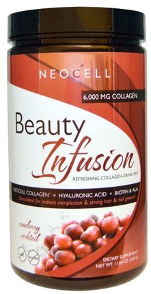 Beauty Infusion, Refreshing Collagen Drink Mix, Cranberry Cocktail, 11.64 oz (330 g) by Neocell, 健康,女性,透明質酸,美容 HK 香港