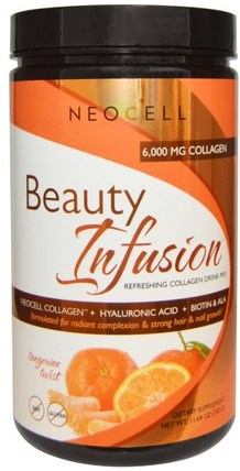 Beauty Infusion, Refreshing Collagen Drink Mix, Tangerine Twist, 11.64 oz (330 g) by Neocell, 健康,女性,透明質酸,美容 HK 香港