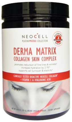 Derma Matrix, Collagen Skin Complex, 6.46 oz (183 g) by Neocell, 健康,骨骼,骨質疏鬆症,膠原蛋白 HK 香港