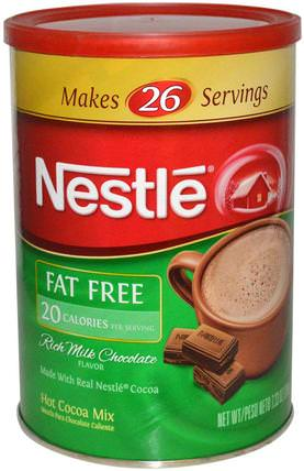 Rich Milk Chocolate Flavor, Fat Free, 7.33 oz (208 g) by Nestle Hot Cocoa Mix, 食品,可可(可可)巧克力,可可粉和混合物 HK 香港