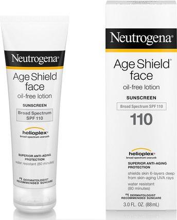 Age Shield Face, Oil-Free Sunscreen, SPF 110, 3 fl oz (88 ml) by Neutrogena, 浴,美容,防曬霜,spf 50-75 HK 香港
