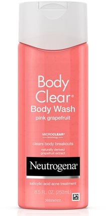 Body Clear, Body Wash, Pink Grapefruit, 8.5 fl oz (250 ml) by Neutrogena, 洗澡,美容,沐浴露 HK 香港