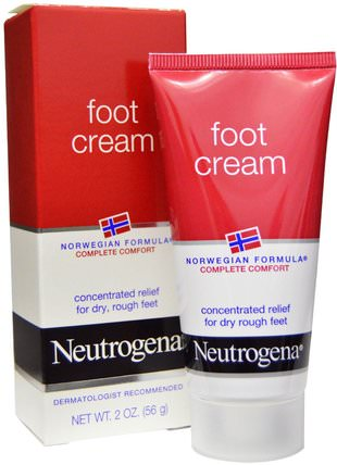 Foot Cream, 2 oz (56 g) by Neutrogena, 洗澡,美容,膏霜腳 HK 香港