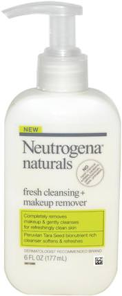 Fresh Cleansing + Makeup Remover, 6 fl oz (177 ml) by Neutrogena, 美容,面部護理,洗面奶 HK 香港