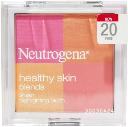 Healthy Skin Blends, Sheer Highlighting Blush, 20 Pure, 0.30 oz (8.48 g) by Neutrogena, 洗澡,美容,化妝,面部護理,臉紅 HK 香港