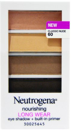 Long Wear Eye Shadow, Classic Nude 60, 0.24 oz (6.97 g) by Neutrogena, 洗澡,美容,化妝,面部護理,眼影 HK 香港