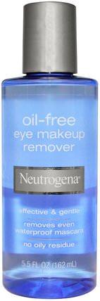 Oil-Free Eye Makeup Remover, 5.5 fl oz (162 ml) by Neutrogena, 洗澡,美容,化妝,面部護理,卸妝 HK 香港