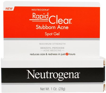 Rapid Clear, Stubborn Acne Spot Gel, Maximum Strength, 1 oz (28 g) by Neutrogena, 健康,neutrogena痤瘡 HK 香港