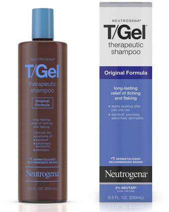 T/Gel, Therapeutic Shampoo, Original Formula, 16 fl oz (473 ml) by Neutrogena, 洗澡,美容,頭髮,頭皮,洗髮水,護髮素 HK 香港