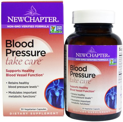Blood Pressure, Take Care, 30 Vegetarian Capsules by New Chapter, 健康,血壓 HK 香港